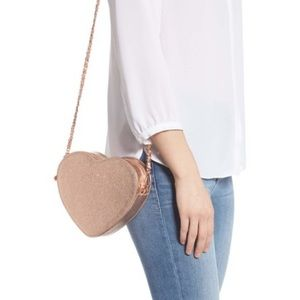 Ted Baker Amelia Leather Rose Gold Crossbody